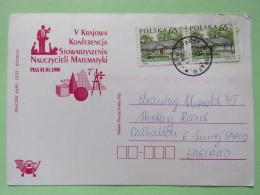 Poland 1999 Postcard Mathematics Conference - Budzy To England - Country Estates Bronowicach - 1944-.... Republic