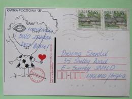 Poland 1999 Postcard Love - To England - Country Estates Bronowicach - 1944-.... Republic