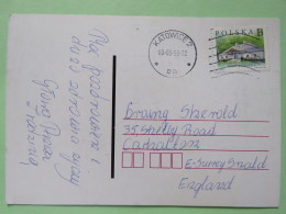 Poland 1999 Postcard Katowice To England - Country Estates Gluchach - 1944-.... Republic
