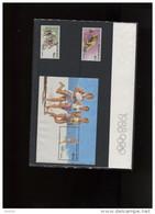Belgie 2285/86 BL64  Olympics Seoul 1988 Thematische Map Oplage 37000 OCB 12€ - Cartes Souvenir