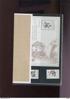 Belgie Thematische Map Nr 12 2353/54 BL66 Redouté Roses Flowers Monarchie Uitgifteprijs 150fr !!! - Cartes Souvenir