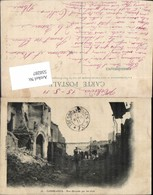 550287,Africa Maroc Casablanca Rue Devastee Par Les Obus - Marokko