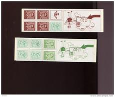 Belgie 1972 B8/B9 Carnet 8 & 9 Marchand Lunette Boudewijn Bril MNH - Booklets 1953-....