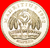 § PALM-TREES: MAURITIUS ★ 5 RUPEE 1992 MINT LUSTER! LOW START★ NO RESERVE! - Mauritius