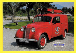 """VOITURE FEUX DE CHEMINEE """" JUVA 4 RENAULT 1951 """" ( SAPEUR POMPIER Collection Claude MARINO ) - Sapeurs-Pompiers"""