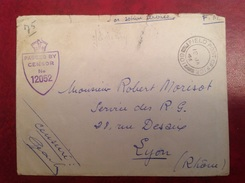 Censure US Pour Service Des RG Rue Desaix LYON Janvier 1945 - Tonkin - Marcofilia (sobres)