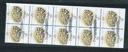 Tonga 1990 Marine Life Definitives 2s Coral Booklet Pane Of 10 MNH Handstamped Specimen - Tonga (1970-...)