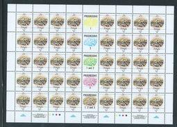 Tonga 1990 Marine Life Definitives Set Of 4 In Full Sheets Of 40 MNH Specimen Overprints - Tonga (1970-...)
