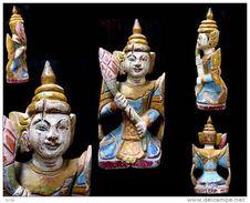 Nat Birman  / Old Burmese Nat Spirit Statue - Art Asiatique