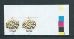 Tonga 1992 Marine Life Definitives 2s Coral Imperforate Plate Proof Pair MNH - Tonga (1970-...)
