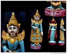 Ancien Petit Nat D'autel / Burmese Nat Spirit Figure - Art Asiatique