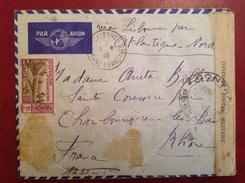 1940 Multi Censure CAYENNE Pour CHARBONNIÈRES LES BAINS Via Lisbonne Par Atlantique Nord - Covers & Documents