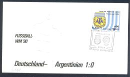 Italy 1990 Relief Cover; Football Soccer Fussball Calcio; FIFA WC World Cup Mundial Weltmeisterschaft Germany Argentina - Wereldkampioenschap