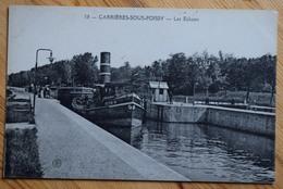 78 : Carrières-sous-Poissy - Les Ecluses - Péniche Et Bateau Remorqueur Triton - Service De Rouen - (n°8515) - Carrieres Sous Poissy