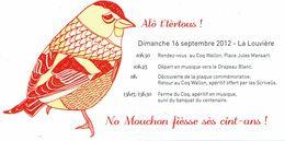 Alô T'tertous ! Invitation Au 100 Ans Du Mouchon D'Aunia (La Louvière, Coq Wallon, 2012) - Programma's