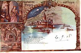 ALLEMAGNE ILLUSTRATION SIGNEE GRUSS VOM RHEIN AGNES VON STAUFEN - Germany