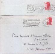 """Lettre Célébrité 64 Hasparren 1988 Et 64 Orthez 1989 =o """"Francis Jammes Poète 50e Anniversaire De Sa Mort...(portrait) - Chanteurs"""