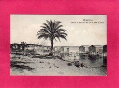 EGYPTE ISMAÏLIA, Rare, Cabines De Bains De Mer Sur Le Bord Du Canal (de Suez), (Ephtinios) - Ismailia