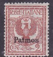 Italy-Colonies And Territories-Aegean-Patmo S 1  1912  2c Red Brown MH - Egée (Patmo)