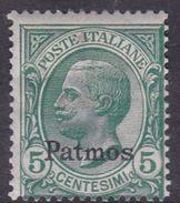 Italy-Colonies And Territories-Aegean-Patmo S 2  1912  5c Green MH - Aegean (Patmo)