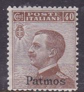 Italy-Colonies And Territories-Aegean-Patmo S 6 1912  40c Brown MH - Egée (Patmo)
