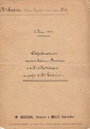 Acte Notarié - PV D'Adjucation Du Notaire Buisson De Milly En Seine & Oise Du 02.03.1879 Entre Mme Cheval & Mr Lépicier - Manuscripten