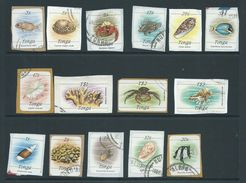 Tonga 1984 Onwards Selection Of 70 + Oddments , Including Useful Self Adhesives On Piece - Tonga (1970-...)