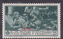 Italy-Colonies And Territories-Aegean-Patmo S 13 1930 Ferrucci 50c Green MH - Egée (Patmo)