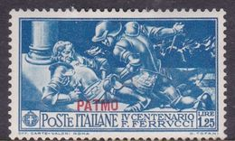 Italy-Colonies And Territories-Aegean-Patmo S 15 1930 Ferrucci Lire 1,25 Blue MH - Egée (Patmo)