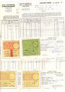 5 Factures Congés C. De Bissey-sous-Cruchaud 71390 Buxy, MODELE 1er MG, CONTRIBUTIONS INDIRECTES - Vignette, Timbre 1973 - Transport