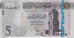 LIBYA 5 DINARS ND (2015) P-77a UNC [LY546a] - Libië