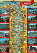 1 Map Of Germany * 1 Ansichtskarte Mit Der Landkarte - Das Schöne Moseltal * - Carte Geografiche
