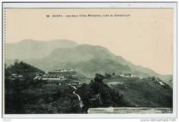 VIET NAM-CHAPA-CARTE DE CARNET-LES DEUX VILLAS MILITAIRES VUES DU SANATORIUM - Viêt-Nam