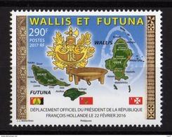 Wallis Et Futuna 2017 - Drapeaux, Visite De F.Hollande A Wallis Et Futuna - 1 Val Neufs // Mnh - Wallis-Et-Futuna