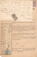 Facture Commune De Milly En S. & O., Pour Concession à Pepétuité En 1901, Vignette De Quittances 10, 25 Cts, 1F50 Cts - France