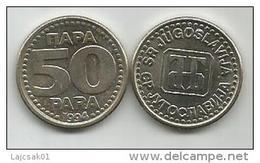 Yugoslavia 50 Para 1994.  XF+  KM#163 - Joegoslavië