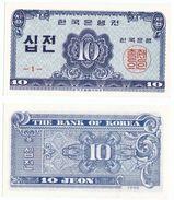 Korea South P 28 A - 10 Jeon 1962 - UNC - Corea Del Sud