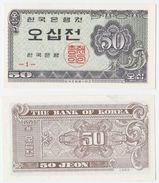 Korea South P 29 A - 50 Jeon 1962 - UNC - Corea Del Sud