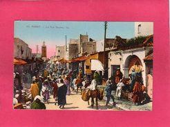 MAROC RABAT, La Rue Souika, Animée, (L. L.) - Rabat