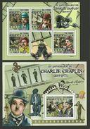 ST THOMAS AND PRINCE 2009 FILMS CINEMA CHARLIE CHAPLIN MODERN TIMES SHEETS MNH - Sao Tome And Principe
