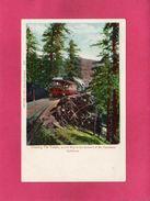 CALIFORNIE, Crossing The Tresle, Mont Tamalpais, Animée, Train, (Britton & Rey) - Non Classés