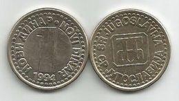 Yugoslavia 1 Novi Dinar 1994.  XF  KM#165 - Joegoslavië