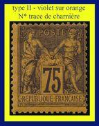N° 99 GROUPE ALLÉGORIQUE SAGE TYPE II 1884 - VIOLET SUR ORANGE - N* TRACE DE CHARNIÈRE (VOIR VERSO) - 1876-1898 Sage (Type II)