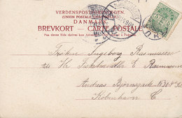 Denmark PPC Strandparti Paa Turø Stjernestempel Star Cancel THURØ 1904 C. St. Eneret 906 (2 Scans) - Briefe U. Dokumente