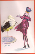 Sager - Illustrateur - 103 - Le Cygne Et La Grue - Plumes - Sager, Xavier