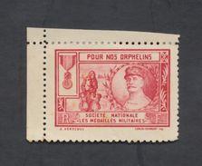 Vignette - Pour Nos Orphelins Société Nationale Des Médaillés Militaires. - Commemorative Labels
