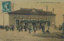 94,Val-de-Marne, CHOISY-LE-ROI, La Gare,animée Et Colorisée, Scan Recto-Verso - Choisy Le Roi