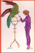 Sager - Illustrateur - 102 - Perruche Et Perroquet - Plumes - Sager, Xavier