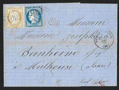 N°59 60 GC 4301 VITREY SUR MANCE HAUTE SAONE MULHOUSE FER A CHEVAL ALSACE LORRAINE TARIF ETRANGER - 1849-1876: Classic Period