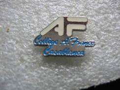 Pin's Du College Anatole France De CASABLANCA - Administrations